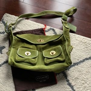 Rare COACH 1941 Limited Edition Green Suede Bag
